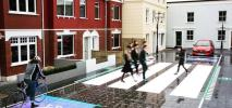 Wielka Brytania. Interaktywne przejście dla pieszych. Pojawia się i znika