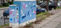 ZDM Warszawa maluje graffiti na skrzynkach elektrycznych