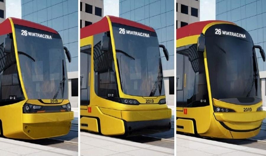 Warszawiacy wybiorą wygląd nowych tramwajów Hyundaia. Trzy propozycje