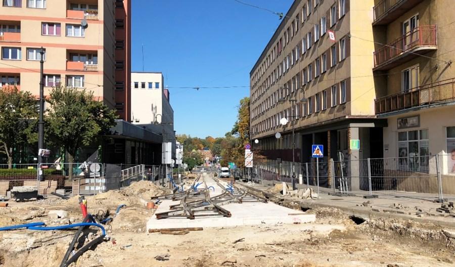 Roboty tramwajowe w centrum Zabrza zakończą się później