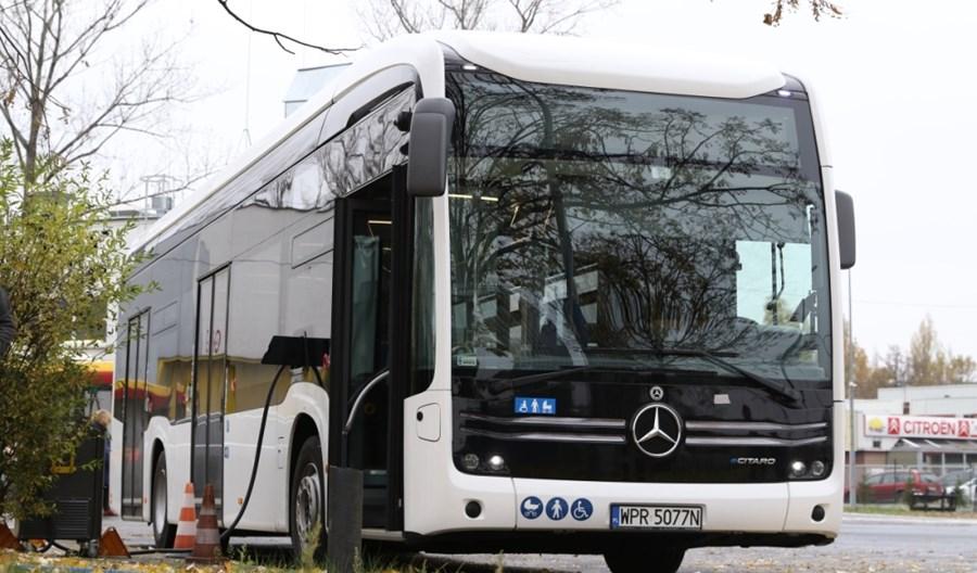 Warszawa. Elektryczny Mercedes Citaro na testach w MZA