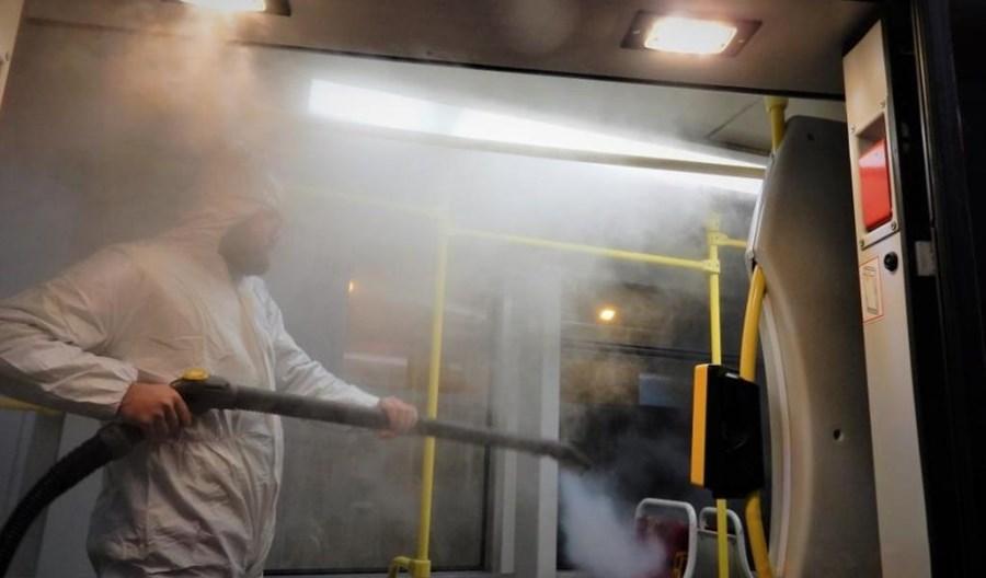 Tramwaje Śląskie wprowadziły parową dezynfekcję tramwajów
