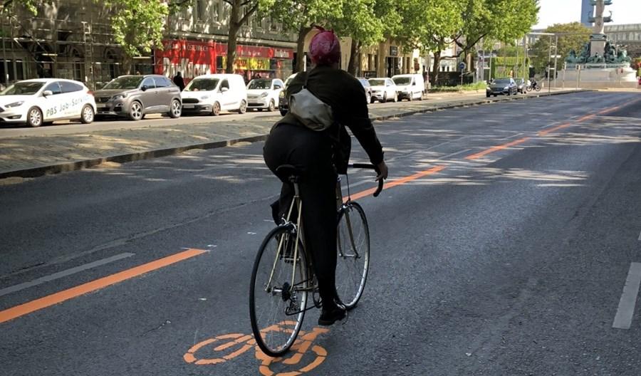 Wiedeń: Pierwsza tymczasowa trasa rowerowa otwarta