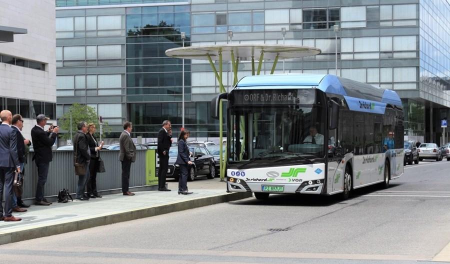 Największy prywatny przewoźnik w Austrii testuje wodorowego Solarisa