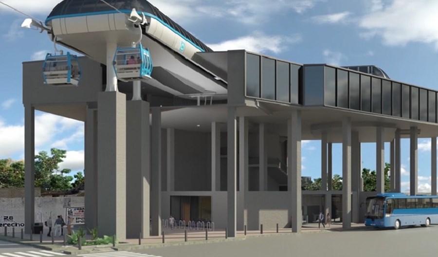 Kolej gondolowa w Meksyku gotowa w 75 proc. Zintegrowany węzeł połączy ją z metrem i siecią szybkich autobusów