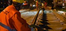 Zgierz: Pojawiły się nowe szyny dla powrotu tramwaju [zdjęcia]