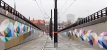Bydgoszcz: Abstrakcyjny mural w wykopie tramwajowym gotowy