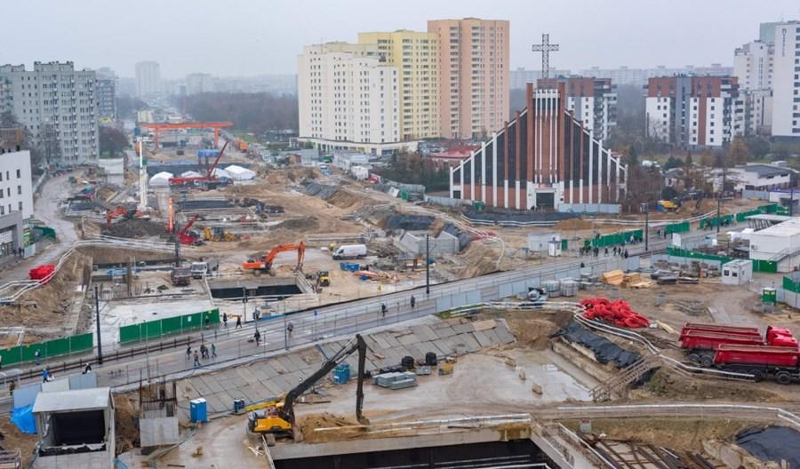 Tragiczny wypadek na budowie metra na Bródno. Jedna osoba nie żyje