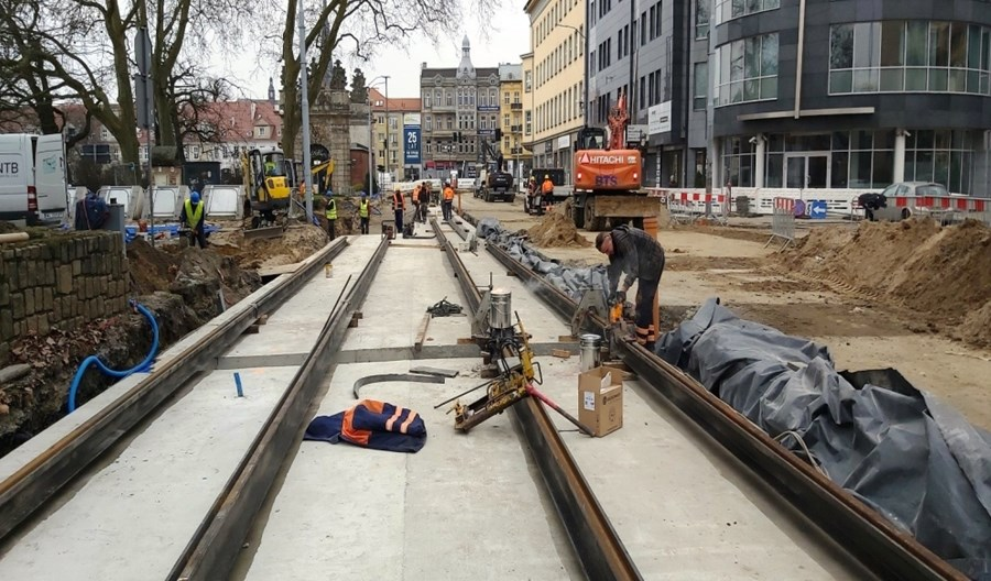 Szczecin: Duże tempo prac przy torowej rewolucji w centrum i na Niebuszewie