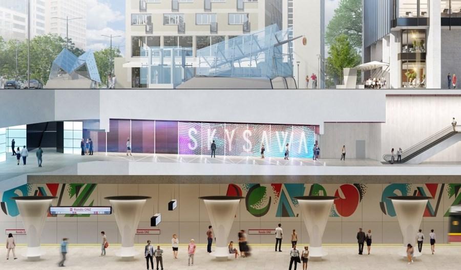 Skysawa połączona już ze stacją metra Rondo ONZ