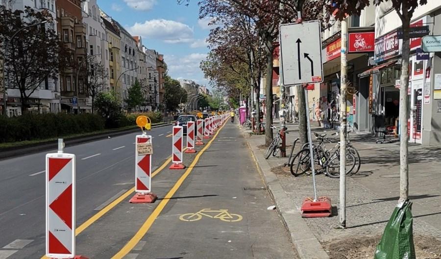 ECF: Tymczasowe pasy rowerowe przyciągają rowerzystów