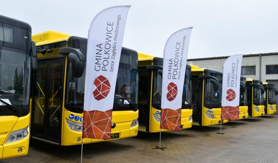 Chińskie elektrobusy wyjechały na ulice Polkowic