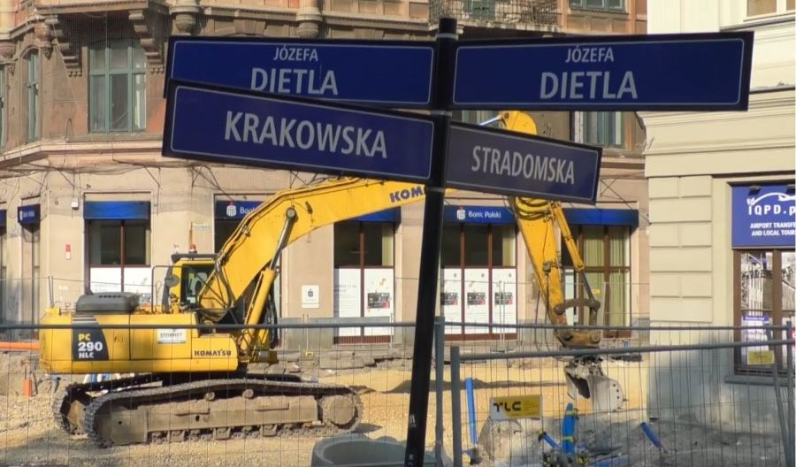 Kraków: Wykopaliska na Krakowskiej. Tramwaje wrócą później