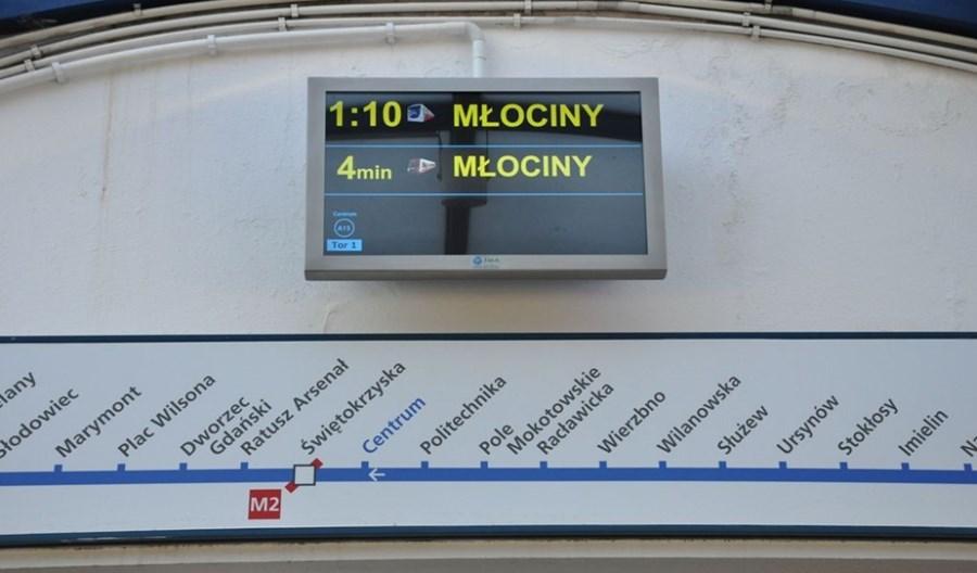 Metro: Dodatkowe ekrany informacyjne na ursynowskim odcinku