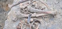 Budowa metra z pierwszymi odkryciami archeologicznymi, w tym szczątkami