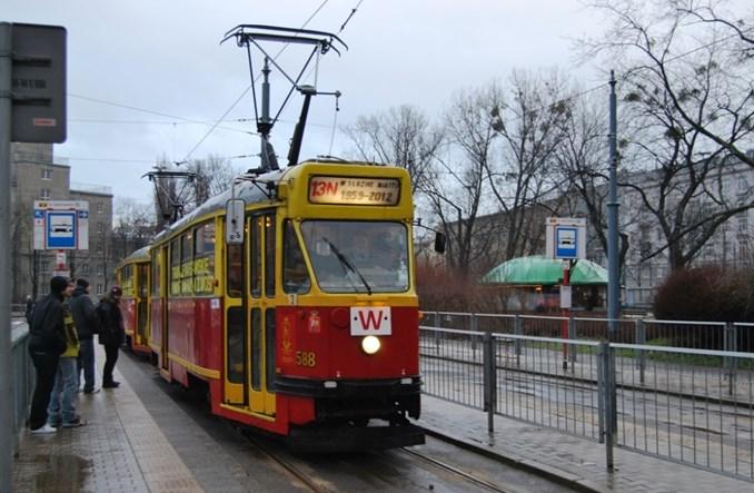 Plac Narutowicza z pętlą tylko dla tramwajów zabytkowych