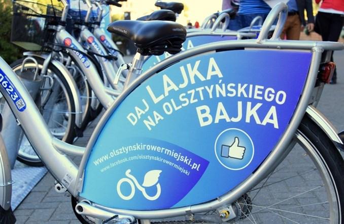 Olsztyński Rower Miejski w pośpiechu i z poślizgiem