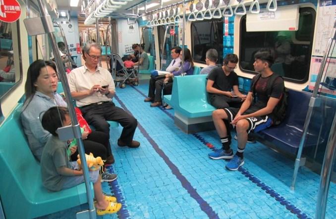 Tajpej. Metro pod wodą, w trawie i w tartanie