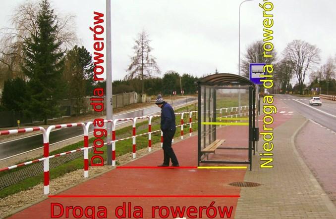 Przystanek na drodze dla rowerów. Urzędnicy nie widzą problemu