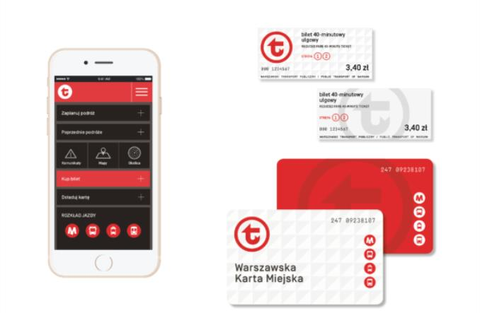 Warszawska komunikacja z nowym logo. Przykłady użycia