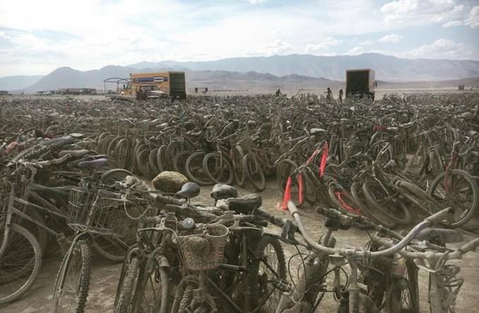 Tysiące rowerów porzuconych po festiwalu. Pojadą na… Karaiby