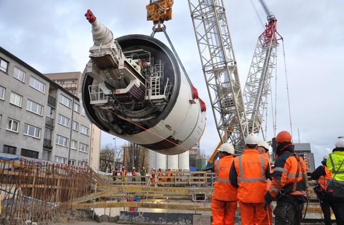 Metro na Wolę: Tarcza Krystyna już pod ziemią [zdjęcia]