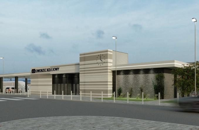 Jest umowa na nowy dworzec w Nidzicy (wizualizacje)