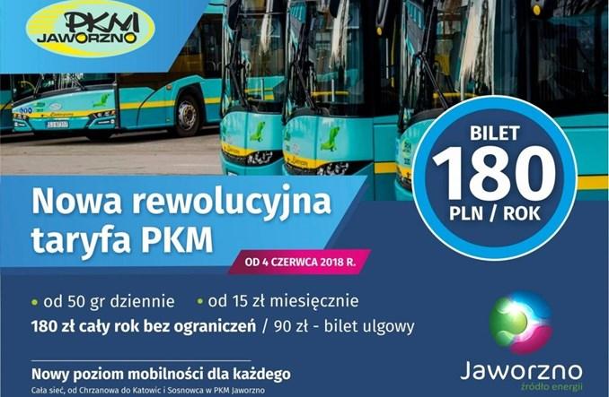 Rewolucyjna taryfa PKM Jaworzno: Bilet roczny za 180 zł