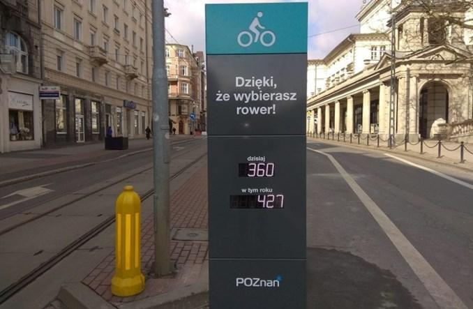 Poznań stawia rowerowy licznik na placu Wolności