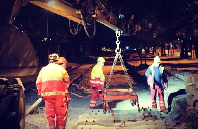 Tramwaje Warszawskie kontynuują remont Jagiellońskiej
