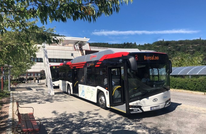 Solarisy z elektrycznym napędem w Kristiansand
