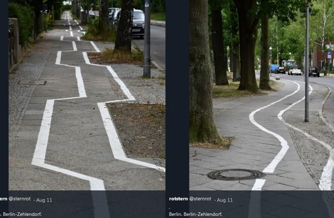 """Berlin ma absurdalną drogę rowerową. """"Jak z Tetrisa"""""""
