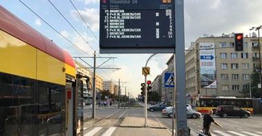 Warszawa: Nowe wyświetlacze na 14 peronach tramwajowych