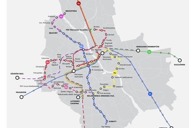 Komunikacja wg Trzaskowskiego: Trzy nowe linie metra, w tym do Mordoru