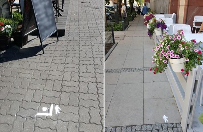 Warszawa. ZDM maluje granice ogródków restauracyjnych