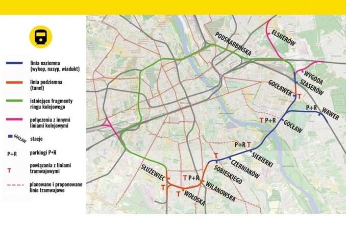 Miasto Jest Nasze: Kolejowy ring Warszawy zamiast licytowania się na metro