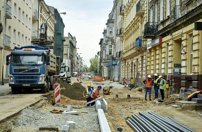 Łódź: Jaracza już po pracach podziemnych. Pora na kostkę