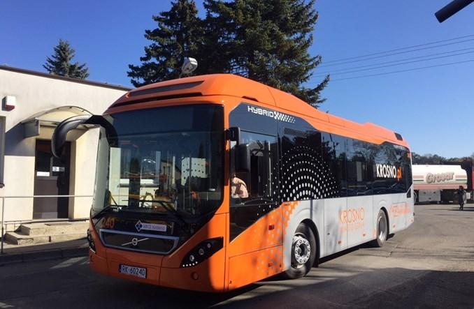 11 autobusów hybrydowych Volvo dotarło do Krosna