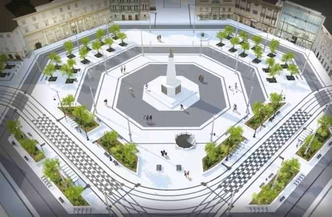 Łódź: Przebudowa pl. Wolności. Oferty czterokrotnie przewyższają budżet