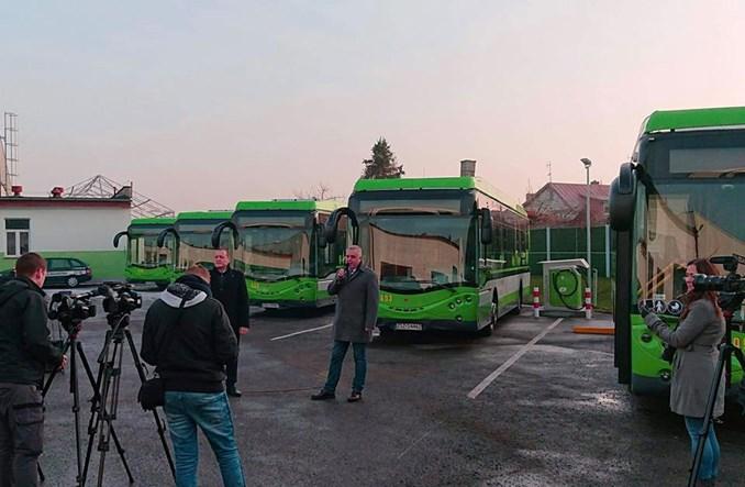 Szczecinek. Zaprezentowano dziesięć elektrobusów od Ursus Bus