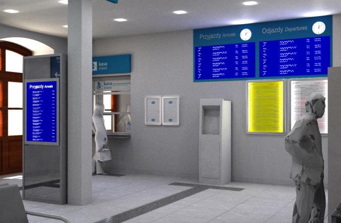 Dworzec w Mrozach z wykonawcą. Odświeżony dworzec za rok (wizualizacje)