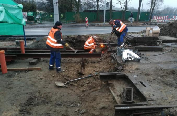 Szczecin: Postępują prace przy budowie tramwaju na Arkońskiej