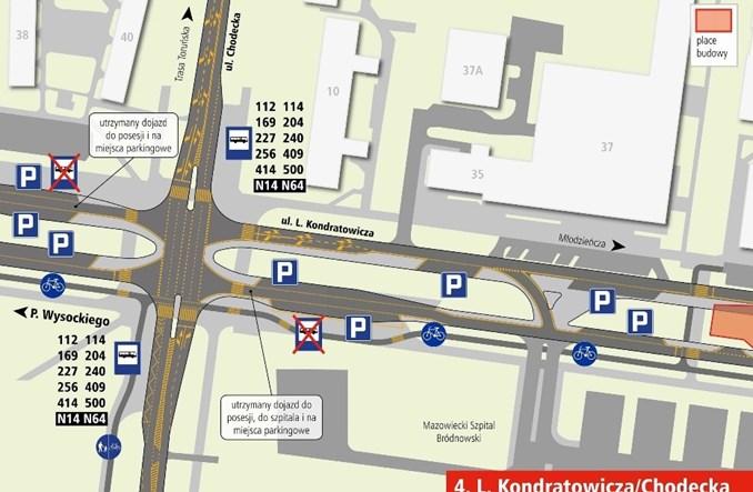 Rusza budowa metra na Bródnie. Objazdy i zmiany od 1 lutego [schematy]