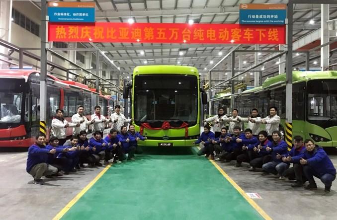 BYD w ciągu 9 lat wyprodukował 50 tys. autobusów