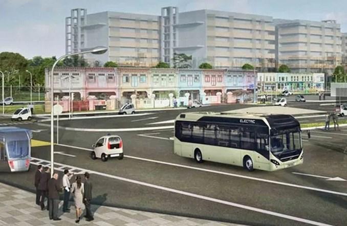 Autonomiczny autobus Volvo testowany w Singapurze