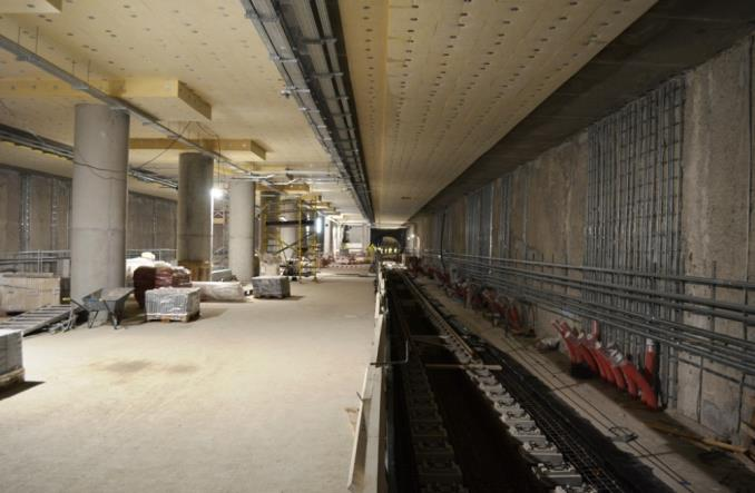 Metro na Woli: Pierwszy kilometr torów i pierwsze posadzki (zdjęcia)
