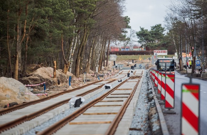 Gdańsk: Na trasie na Stogi pierwsze nowe tory tramwajowe