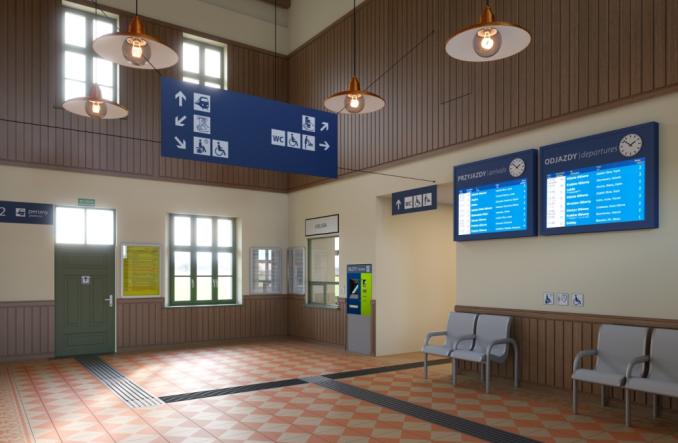 Niebawem przetarg na remont dworca w Radymnie (wizualizacje)