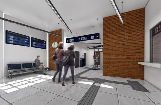 Dworzec w Suszu z wykonawcą (wizualizacje)