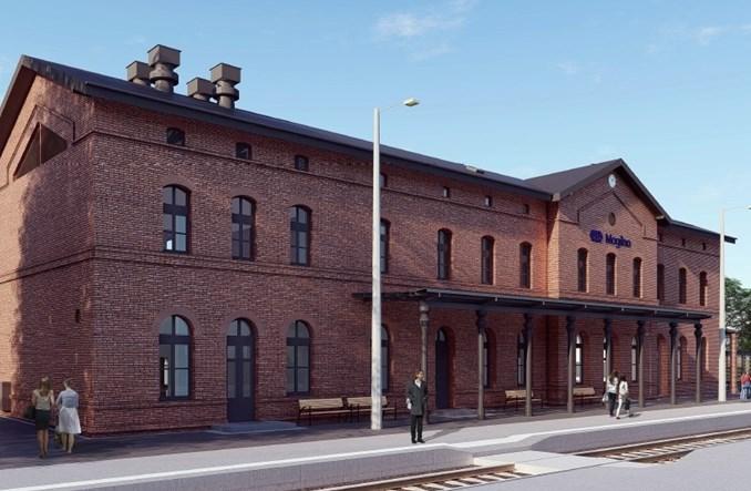 Sporo ofert na przebudowę dworca Mogilno [wizualizacje]